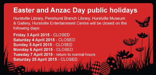 ​Easter and Anzac Day public holidays