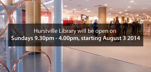 New Sunday opening hours for Hurstville Library